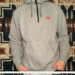 Nike Quarter zip hooded sweatshirt